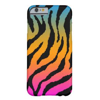 Rayas de neón del tigre del tigre 80s de Corey Funda Para iPhone 6 Barely There
