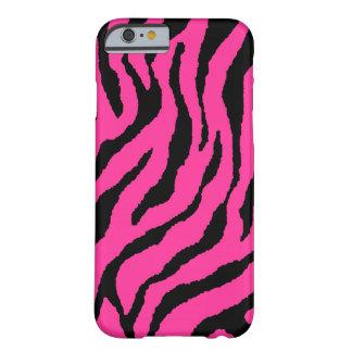 Rayas de neón del tigre del tigre 80s de Corey Funda De iPhone 6 Barely There