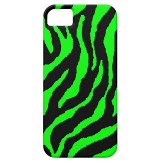 Rayas de neón del tigre del tigre 80s de Corey (ve iPhone 5 Case-Mate Fundas