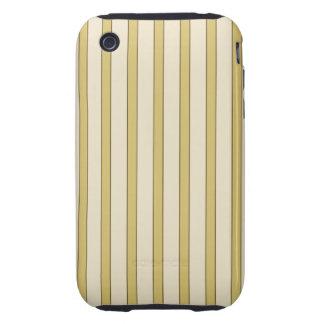 Rayas de oro iPhone 3 tough protectores