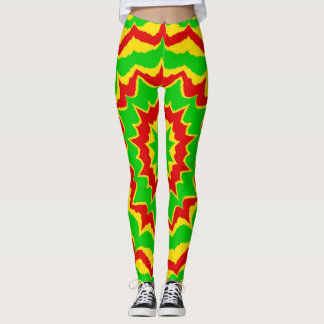 Rayas de Spikey Rasta Leggings