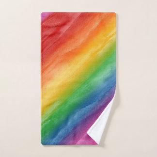 Rayas del arco iris de la acuarela