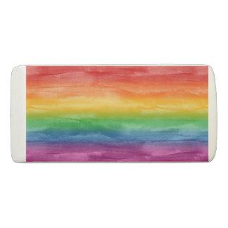 Rayas del arco iris de la acuarela goma de borrar