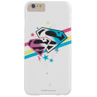 Rayas del arco iris de Supergirl Funda Para iPhone 6 Plus Barely There