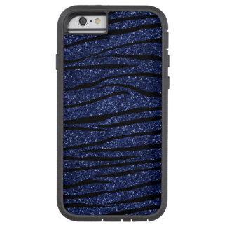 Rayas del brillo de la cebra de los azules marinos funda de iPhone 6 tough xtreme