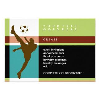 rayas del fútbol invitaciones personalizada