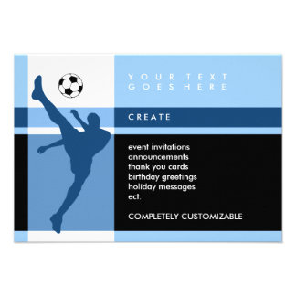 rayas del fútbol invitacion personalizada