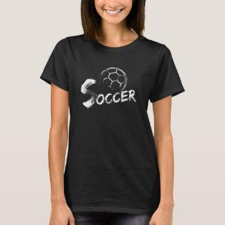 Rayas del Grunge del fútbol Camiseta