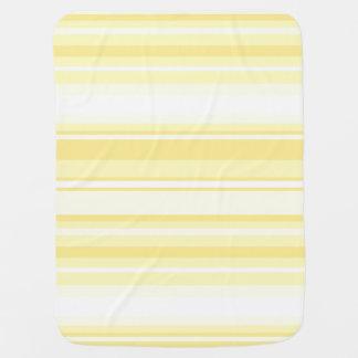 Rayas del limón manta de bebé