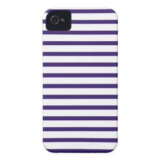Rayas del marinero - azules marinos y blanco iPhone 4 Case-Mate cárcasas