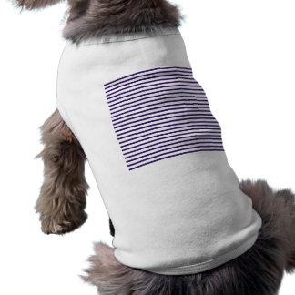 Rayas del marinero - azules marinos y blanco prenda mascota