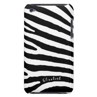 Rayas del modelo de la cebra, negras y blancas, su funda para iPod de Case-Mate