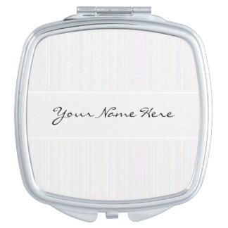 Rayas del ópalo nacaradas personalizadas espejo maquillaje