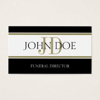 Rayas del oro del director de funeraria tarjeta de negocios
