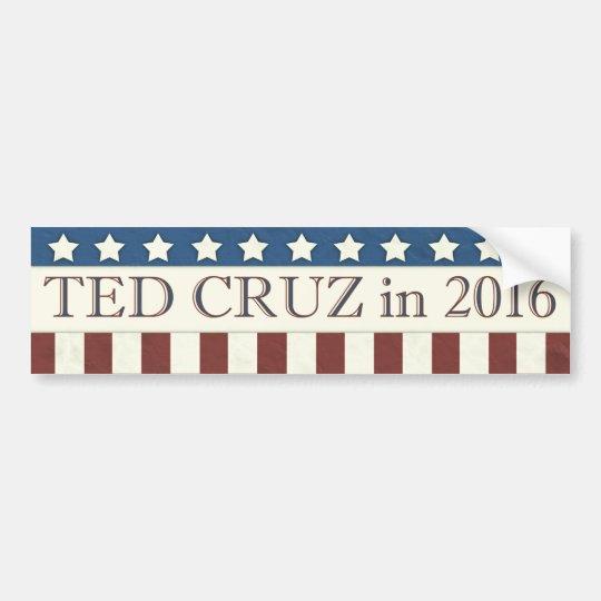 Rayas del presidente 2016 estrellas de Ted Cruz Pegatina Para Coche