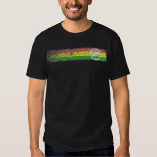 Rayas del reggae de Rasta con la estrella y la Camisetas