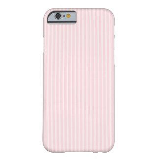 Rayas del rosa en colores pastel funda de iPhone 6 barely there
