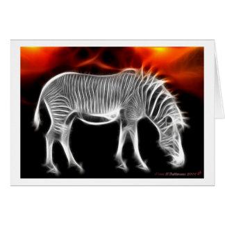 Rayas del safari tarjeta de felicitación