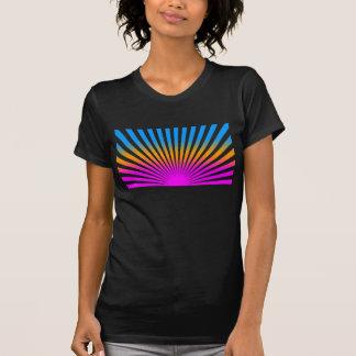 Rayas del sol naciente del vintage del tigre 80s camisetas