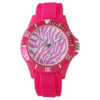 Rayas del tigre del estilo del vintage del tigre reloj