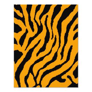 Rayas del tigre del tigre 80s de Corey (naranja) Invitación 10,8 X 13,9 Cm