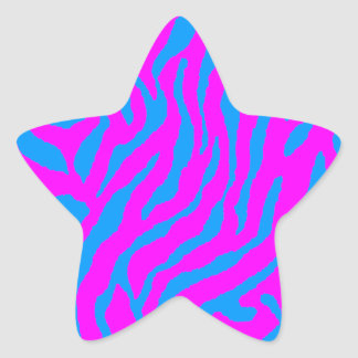 Rayas del tigre del tigre 80s de Corey Pegatina En Forma De Estrella
