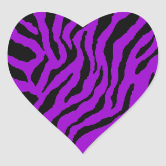 Rayas del tigre del tigre 80s de Corey Pegatina Corazon