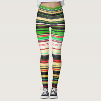 Rayas del vintage leggings