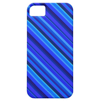 Rayas diagonales azules funda para iPhone SE/5/5s