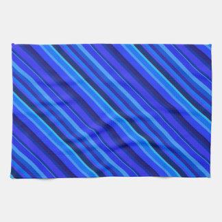 Rayas diagonales azules paño de cocina