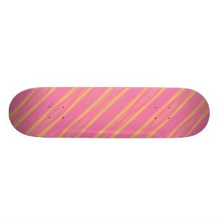 Rayas diagonales en colores pastel del aerógrafo patines personalizados
