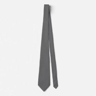 Rayas diagonales finas grises claras corbatas personalizadas