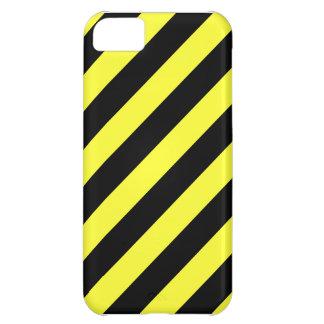 rayas diagonales negro y amarillo funda iPhone 5C