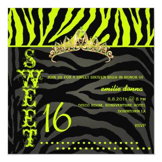 Rayas dulces 16/Zebra de PixDezines Invitación 13,3 Cm X 13,3cm