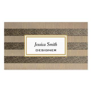 Rayas elegantes profesionales del leopardo del tarjetas de visita