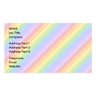 Rayas en colores pastel del arco iris plantilla de tarjeta de negocio