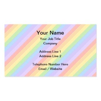 Rayas en colores pastel del arco iris plantillas de tarjeta de negocio