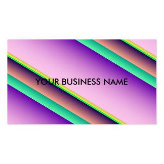 Rayas en colores pastel del caramelo plantillas de tarjetas de visita