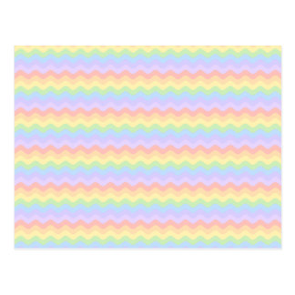 Rayas en colores pastel onduladas del arco iris postal