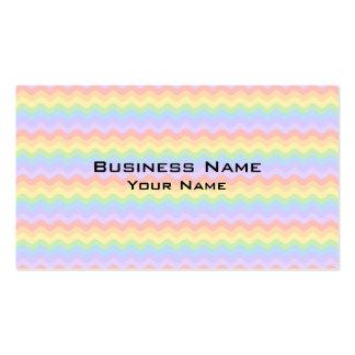 Rayas en colores pastel onduladas del arco iris tarjetas de visita