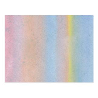 Rayas en colores pastel postales