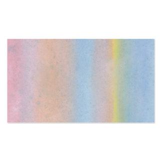 Rayas en colores pastel tarjetas de visita