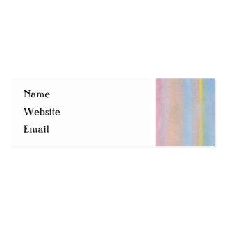 Rayas en colores pastel tarjetas de visita mini