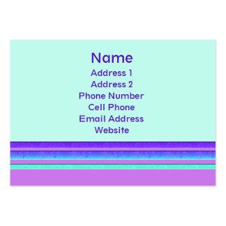 rayas en colores pastel tarjetas de visita grandes