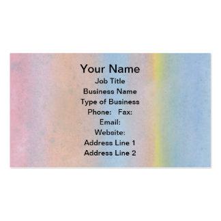 Rayas en colores pastel tarjeta de negocio