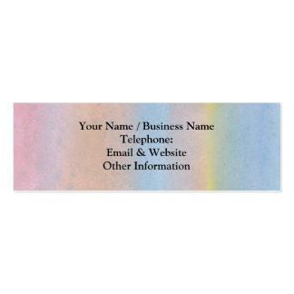 Rayas en colores pastel plantilla de tarjeta de visita