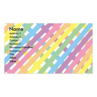 Rayas en colores pastel plantillas de tarjetas de visita