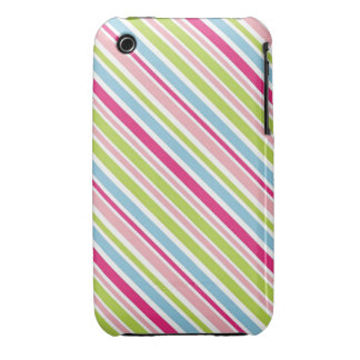 Rayas femeninas diagonales iPhone 3 Case-Mate carcasas