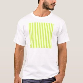 Rayas finas - blancas y amarillo fluorescente camiseta