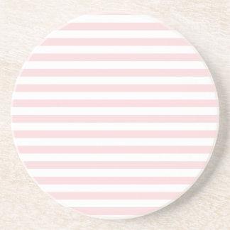 Rayas finas - blancas y pálidas - rosa posavasos